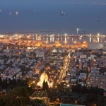 Haifa bei Nacht